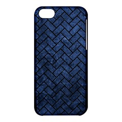 Brick2 Black Marble & Blue Stone (r) Apple Iphone 5c Hardshell Case by trendistuff