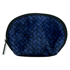 Brick2 Black Marble & Blue Stone (r) Accessory Pouch (medium) by trendistuff