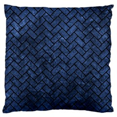 Brick2 Black Marble & Blue Stone (r) Standard Flano Cushion Case (one Side) by trendistuff