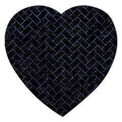 Brick2 Black Marble & Blue Stone Jigsaw Puzzle (heart) by trendistuff