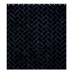 Brick2 Black Marble & Blue Stone Shower Curtain 66  X 72  (large) by trendistuff