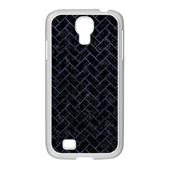 Brick2 Black Marble & Blue Stone Samsung Galaxy S4 I9500/ I9505 Case (white) by trendistuff