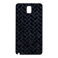 Brick2 Black Marble & Blue Stone Samsung Galaxy Note 3 N9005 Hardshell Back Case by trendistuff