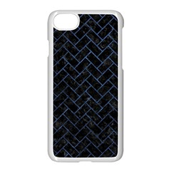 Brick2 Black Marble & Blue Stone Apple Iphone 7 Seamless Case (white) by trendistuff