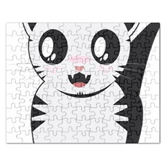 Meow Rectangular Jigsaw Puzzl by evpoe