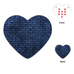 Brick1 Black Marble & Blue Stone (r) Playing Cards (heart) by trendistuff