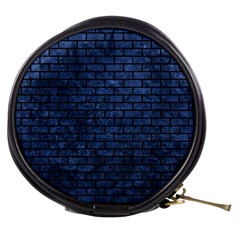 Brick1 Black Marble & Blue Stone (r) Mini Makeup Bag by trendistuff