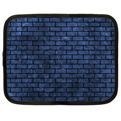 Brick1 Black Marble & Blue Stone (r) Netbook Case (xxl) by trendistuff