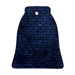 Brick1 Black Marble & Blue Stone (r) Bell Ornament (two Sides) by trendistuff