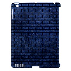 Brick1 Black Marble & Blue Stone (r) Apple Ipad 3/4 Hardshell Case (compatible With Smart Cover) by trendistuff