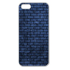 Brick1 Black Marble & Blue Stone (r) Apple Seamless Iphone 5 Case (clear) by trendistuff