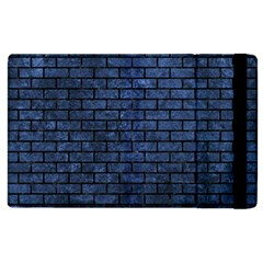 Brick1 Black Marble & Blue Stone (r) Apple Ipad 3/4 Flip Case by trendistuff