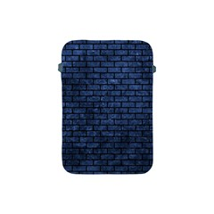 Brick1 Black Marble & Blue Stone (r) Apple Ipad Mini Protective Soft Case by trendistuff