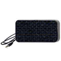 Brick1 Black Marble & Blue Stone Portable Speaker (black) by trendistuff