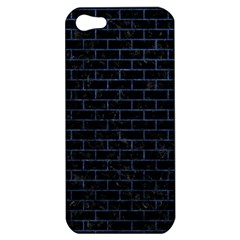 Brick1 Black Marble & Blue Stone Apple Iphone 5 Hardshell Case by trendistuff