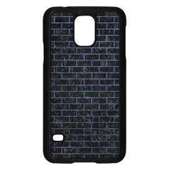 Brick1 Black Marble & Blue Stone Samsung Galaxy S5 Case (black) by trendistuff