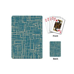 Hand Drawn Lines Background In Vintage Style Playing Cards (mini)  by TastefulDesigns