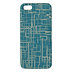 Hand Drawn Lines Background In Vintage Style Apple Iphone 5 Premium Hardshell Case by TastefulDesigns