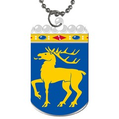 Coat Of Arms Of Aland Dog Tag (one Side) by abbeyz71