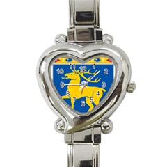 Coat Of Arms Of Aland Heart Italian Charm Watch by abbeyz71
