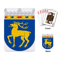 Coat Of Arms Of Aland Playing Card by abbeyz71