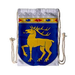 Coat Of Arms Of Aland Drawstring Bag (small) by abbeyz71