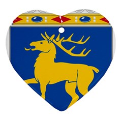 Coat Of Arms Of Aland Ornament (heart) by abbeyz71