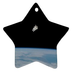 Amazing Stunning Astronaut Amazed Star Ornament (two Sides) by Simbadda