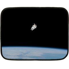 Amazing Stunning Astronaut Amazed Double Sided Fleece Blanket (mini)