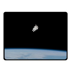 Amazing Stunning Astronaut Amazed Fleece Blanket (small) by Simbadda