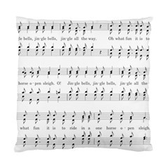 Jingle Bells Song Christmas Carol Standard Cushion Case (two Sides) by Simbadda