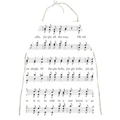Jingle Bells Song Christmas Carol Full Print Aprons by Simbadda
