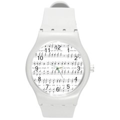 Jingle Bells Song Christmas Carol Round Plastic Sport Watch (m)