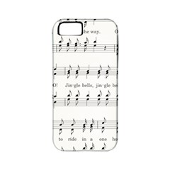 Jingle Bells Song Christmas Carol Apple Iphone 5 Classic Hardshell Case (pc+silicone) by Simbadda