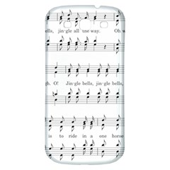 Jingle Bells Song Christmas Carol Samsung Galaxy S3 S Iii Classic Hardshell Back Case by Simbadda