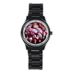 Jellyfish Ballet Wind Stainless Steel Round Watch by Simbadda