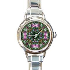 Digital Kaleidoscope Round Italian Charm Watch by Simbadda