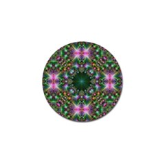 Digital Kaleidoscope Golf Ball Marker (4 Pack) by Simbadda