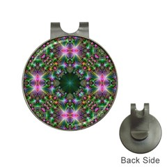 Digital Kaleidoscope Hat Clips With Golf Markers