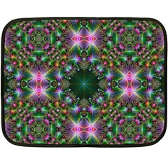 Digital Kaleidoscope Fleece Blanket (mini) by Simbadda