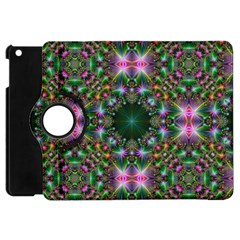 Digital Kaleidoscope Apple Ipad Mini Flip 360 Case by Simbadda