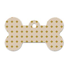 Pattern Background Retro Dog Tag Bone (two Sides)