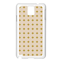 Pattern Background Retro Samsung Galaxy Note 3 N9005 Case (white) by Simbadda