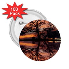 Aurora Sunset Sun Landscape 2 25  Buttons (100 Pack)  by Simbadda