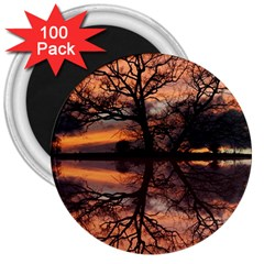 Aurora Sunset Sun Landscape 3  Magnets (100 Pack) by Simbadda