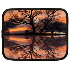 Aurora Sunset Sun Landscape Netbook Case (xxl)  by Simbadda