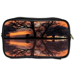 Aurora Sunset Sun Landscape Toiletries Bags 2 Side by Simbadda