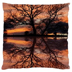 Aurora Sunset Sun Landscape Large Cushion Case (two Sides) by Simbadda