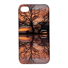 Aurora Sunset Sun Landscape Apple Iphone 4/4s Hardshell Case With Stand by Simbadda