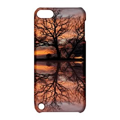 Aurora Sunset Sun Landscape Apple Ipod Touch 5 Hardshell Case With Stand by Simbadda